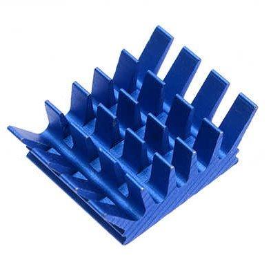 Anodized Blue Aluminum Heatsink 13X14X6mm