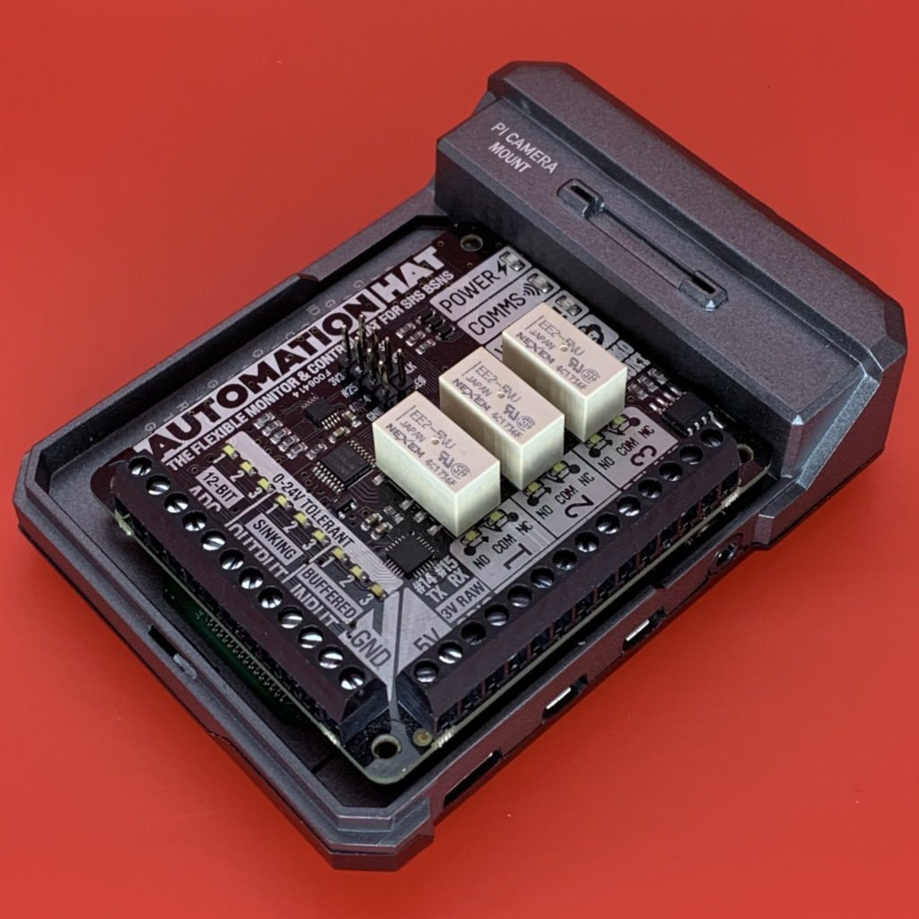 NEO with Pimoroni Automation HAT installed