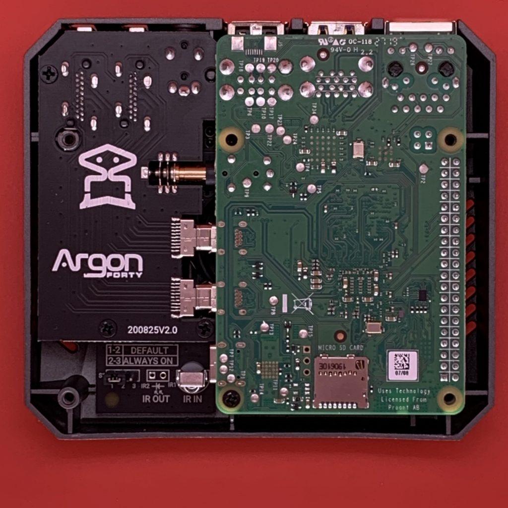 Argon ONE M.2 SSD Case Internals