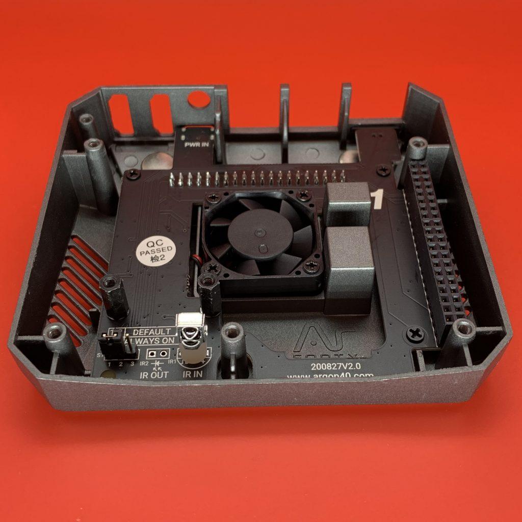 Argon ONE M.2 SSD Case Internals Top